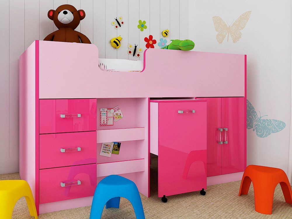 Girls Cabin Bed & Space Saver Bunk Bed Cabin Beds and Sleeper Beds for kids ...